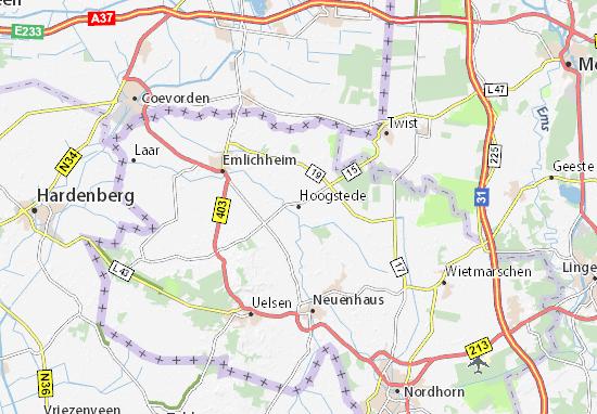 Hoogstede Map