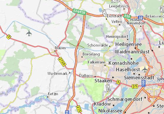 Brieselang Map