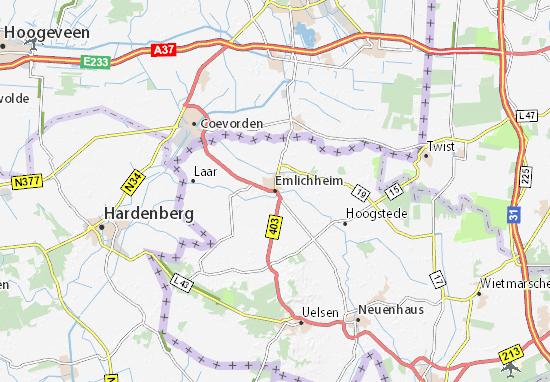 Kaart Plattegrond Emlichheim