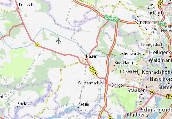 Karte Stadtplan Nauen