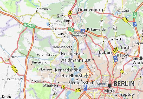 Karte Stadtplan Hennigsdorf