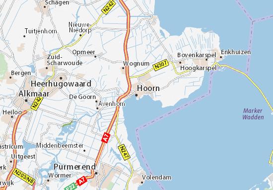 Carte-Plan Hoorn