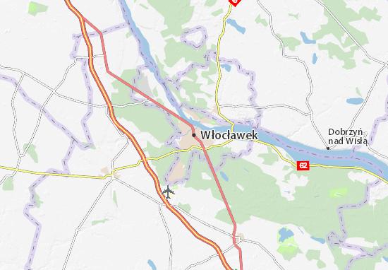 Kaart Plattegrond Włocławek