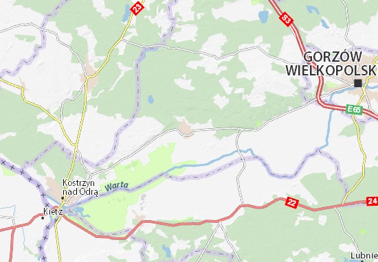 Witnica Map