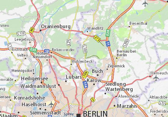 Karte Stadtplan Schönwalde