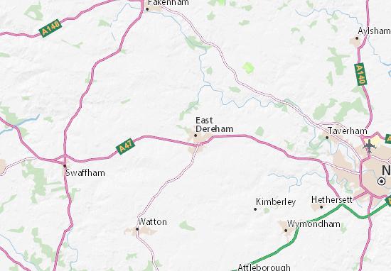 East Dereham Map
