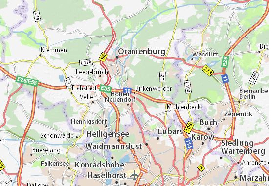 Birkenwerder Map