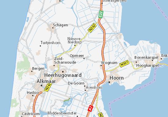 Karte Stadtplan Opmeer