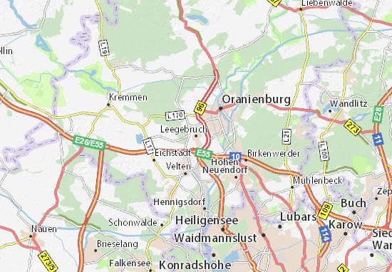 Karte Stadtplan Leegebruch