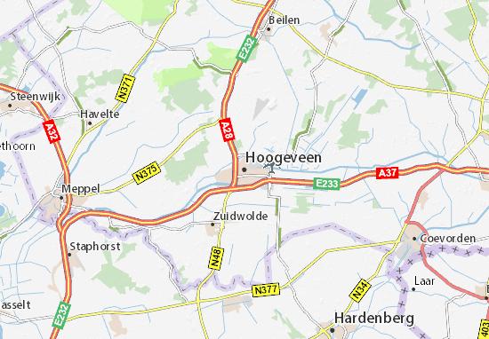 Kaart Plattegrond Hoogeveen