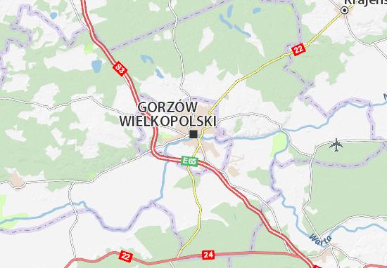 Karte Stadtplan Gorzów Wielkopolski