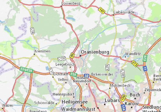 Oranienburg Map
