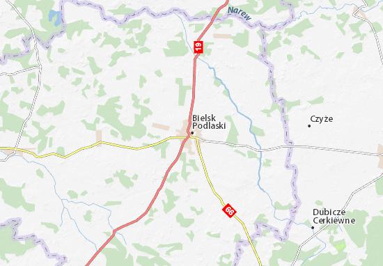 Mapa Bielsk Podlaski