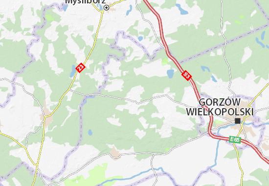 Kaart Plattegrond Lubiszyn