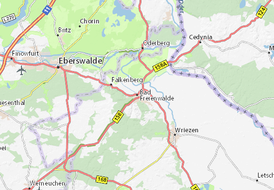 Bad Freienwalde Map