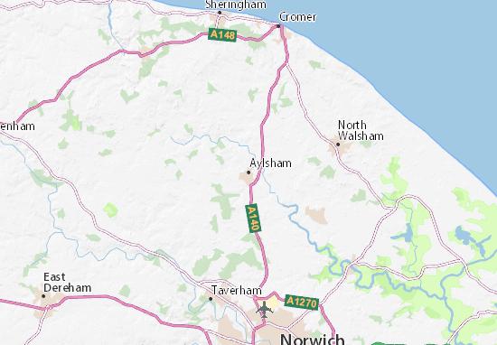 Aylsham Map Detailed Maps For The City Of Aylsham Viamichelin
