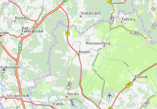 Kaart Plattegrond Bergen