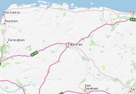 Fakenham Map