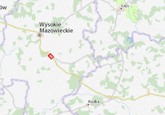 Kaart Plattegrond Nowe Piekuty