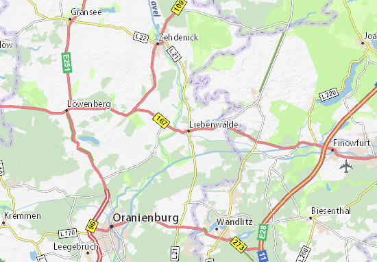 Karte Stadtplan Liebenwalde