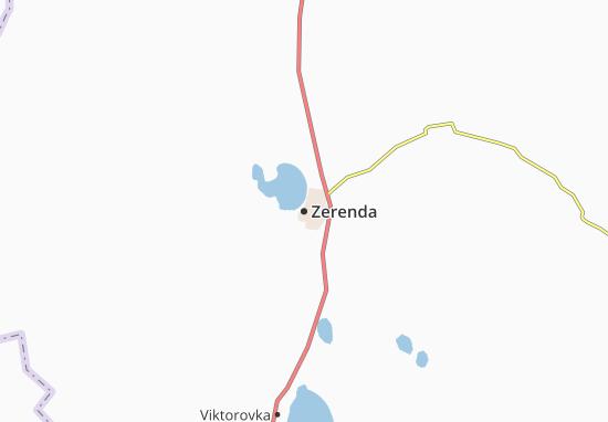 Zerenda Map