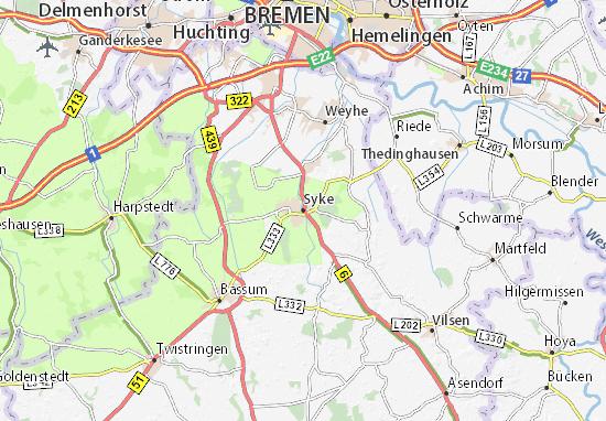 Karte Stadtplan Syke
