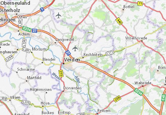 Kaart Plattegrond Kirchlinteln