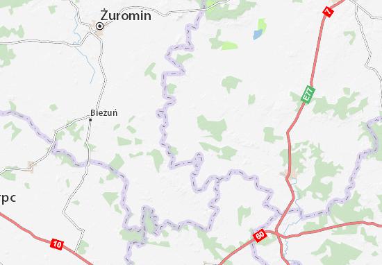 Karte Stadtplan Radzanów
