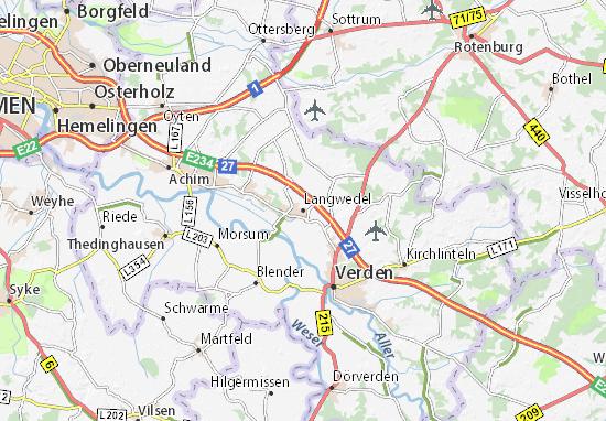 Langwedel Map