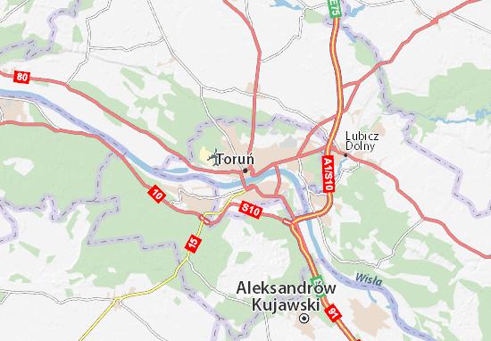 Mapa Toruń
