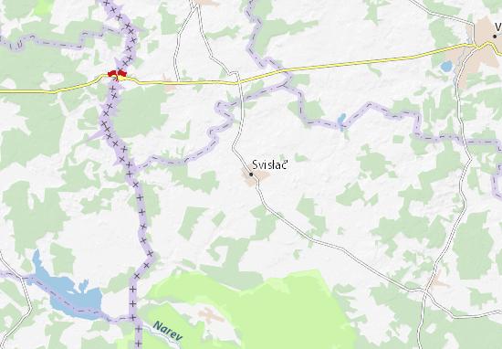 Mapa Plano Svisłač'