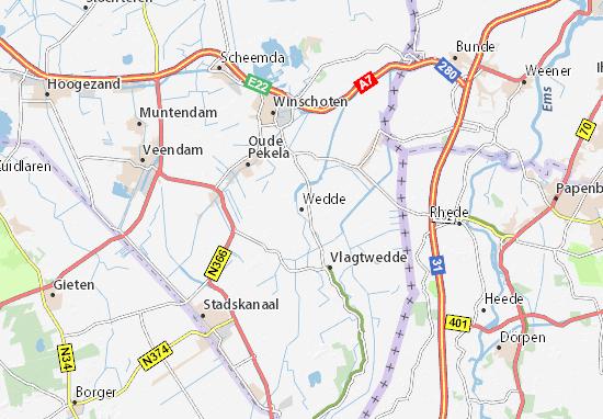 Karte Stadtplan Wedde