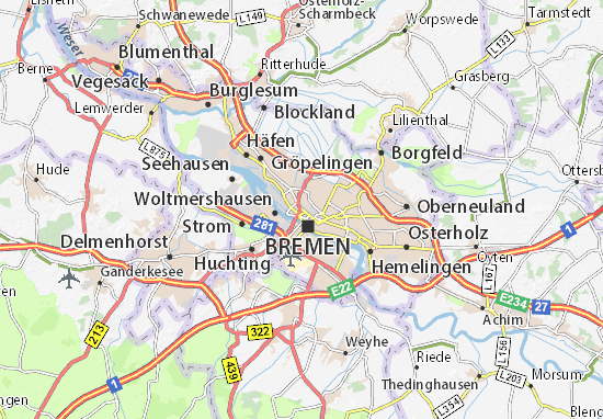 Carte-Plan Bremen