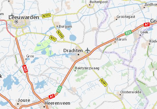 Mapa Plano Drachten