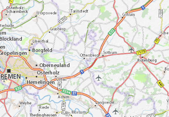 Kaart Plattegrond Ottersberg