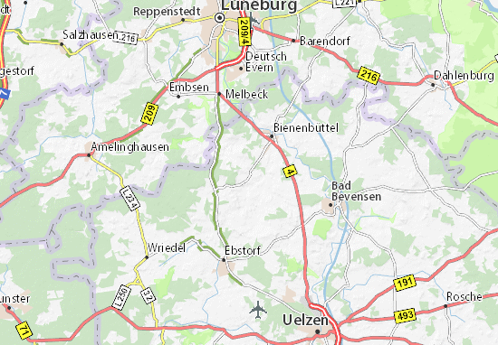 Rieste Map