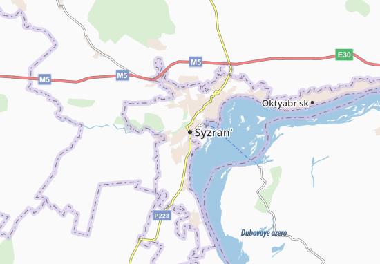 Carte-Plan Syzran'