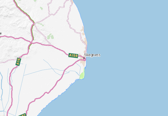 Map Of Skegness Skegness Map: Detailed maps for the city of Skegness   ViaMichelin