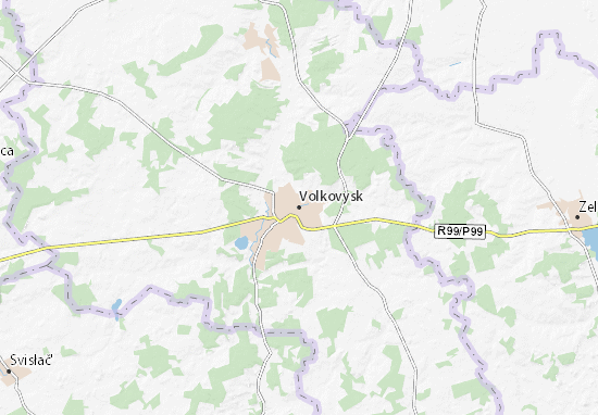 Mapa Plano Volkovysk