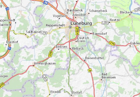 Kaart Plattegrond Melbeck