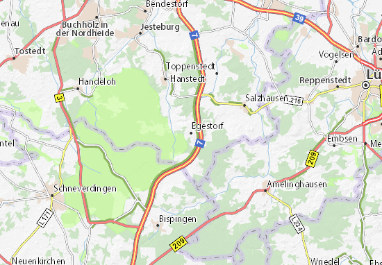 Mapa Plano Egestorf
