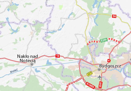 Karte Stadtplan Sicienko