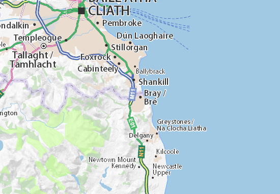 Detailed Map Of Ireland.Detailed Map Of Bray Bray Map Viamichelin