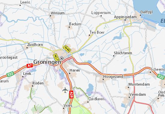 Kaart Plattegrond Groningen