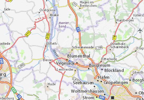 Karte Stadtplan Schwanewede