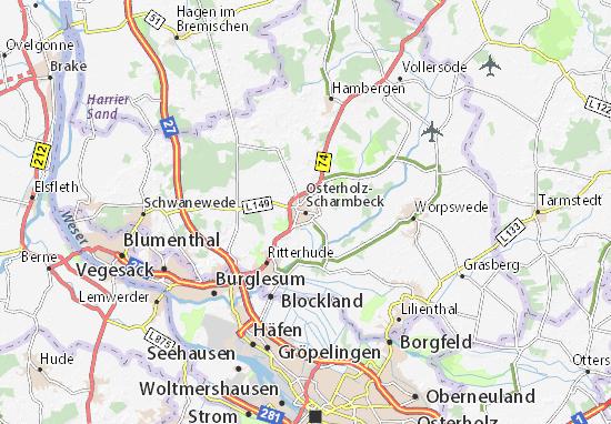 Karte Stadtplan Osterholz-Scharmbeck