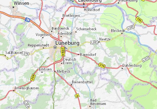 Kaart Plattegrond Barendorf