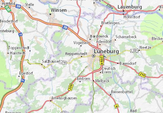 Kaart Plattegrond Reppenstedt