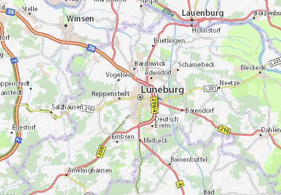 Lüneburg Map