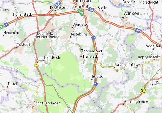 Kaart Plattegrond Hanstedt